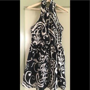 Forever 21 Linen Halter Mini Dress - Size Medium
